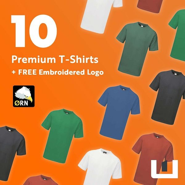 10 Premium Embroidered T-Shirts