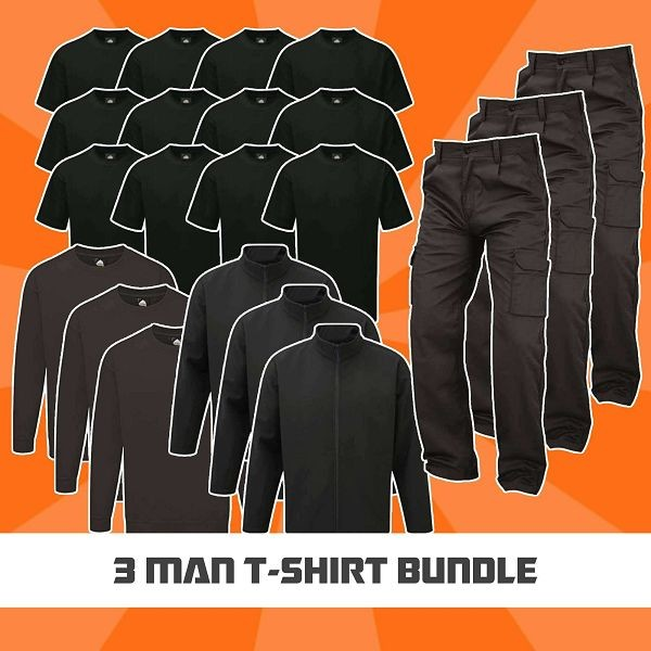 3 Man T-Shirt Bundle
