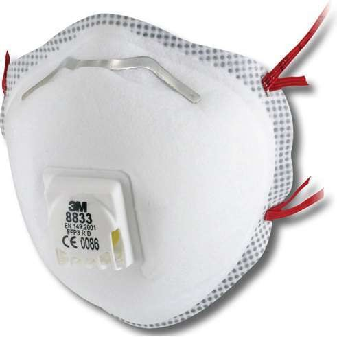 3M 8833 Mask P3V R (Box of 10) FFP3