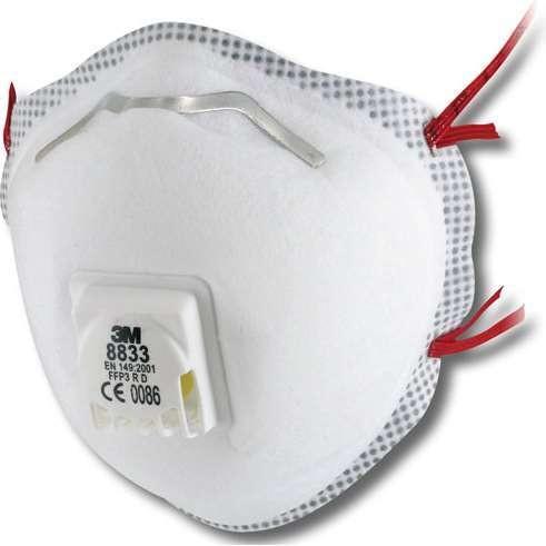 3M 8833 Mask P3V R (Box of 10)