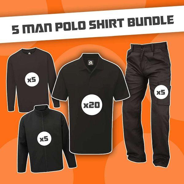 5 Man Polo Shirt Bundle