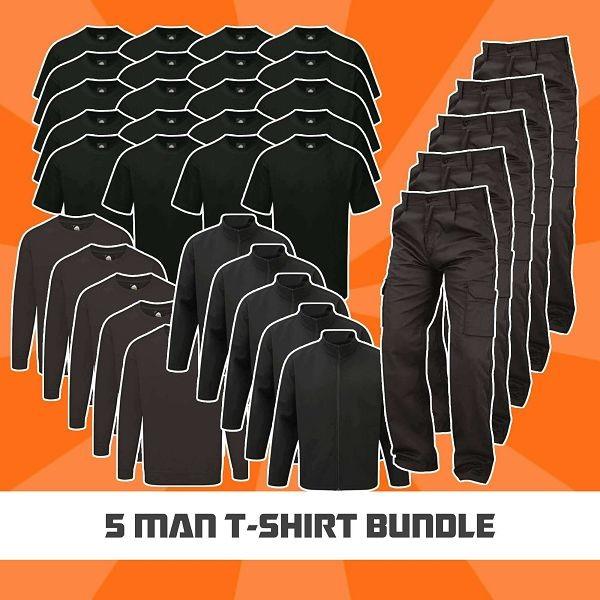 5 Man T-Shirt Bundle