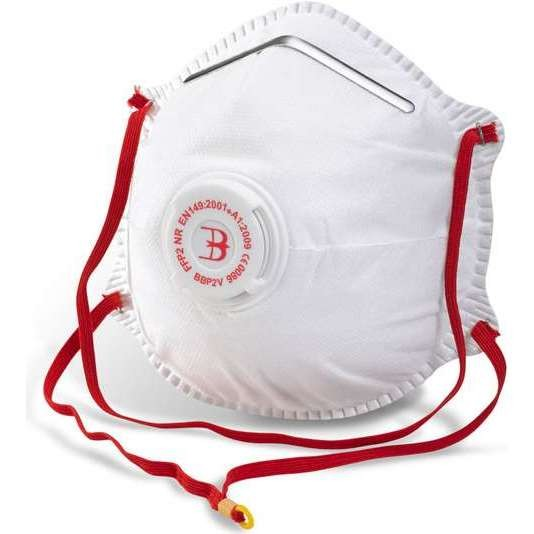 B-BRAND FFP2 MASK VALVED BOX 10