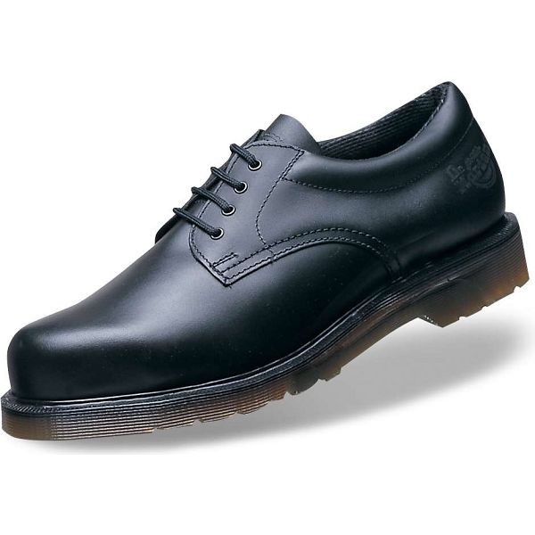 Dr Martens Icon Black Smooth Leather  Safety Shoes (Fine hair)