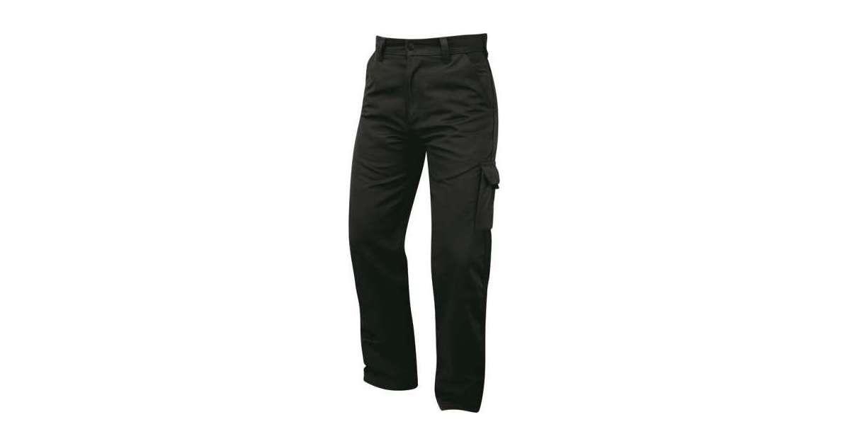 "Scruffs Worker Plus Trousers Combat Cargo Work Pants Black Size 36/"" Regular"