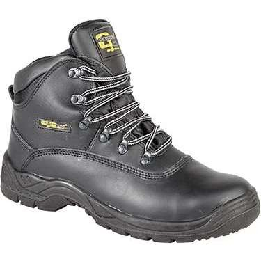 Grafters M216A Black Leather Safety Boot