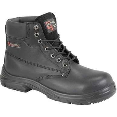 Grafters M9503A Black Leather Wide Fitting Boots
