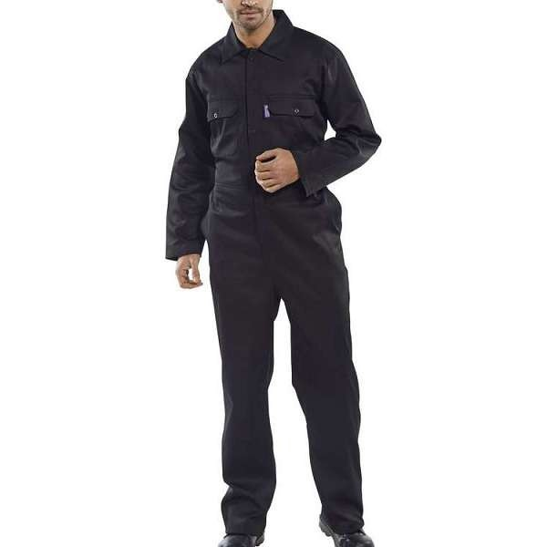 Regular Black Coverall