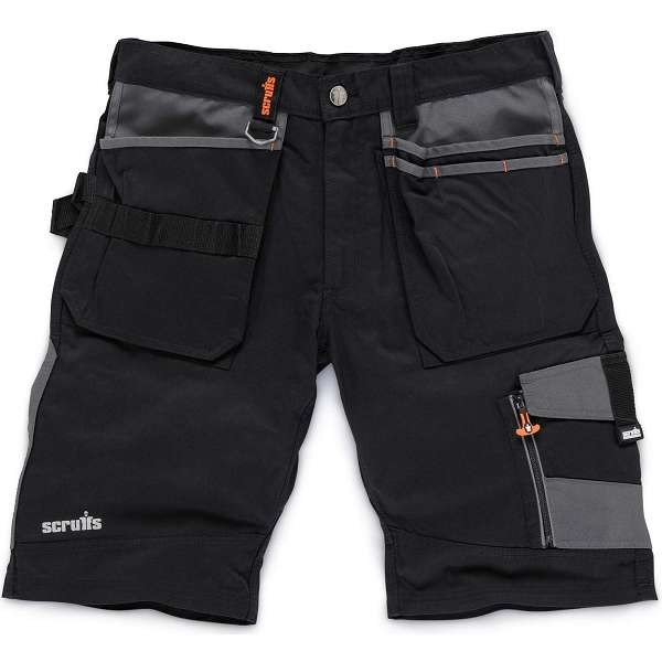 Scruffs Black Trade Shorts