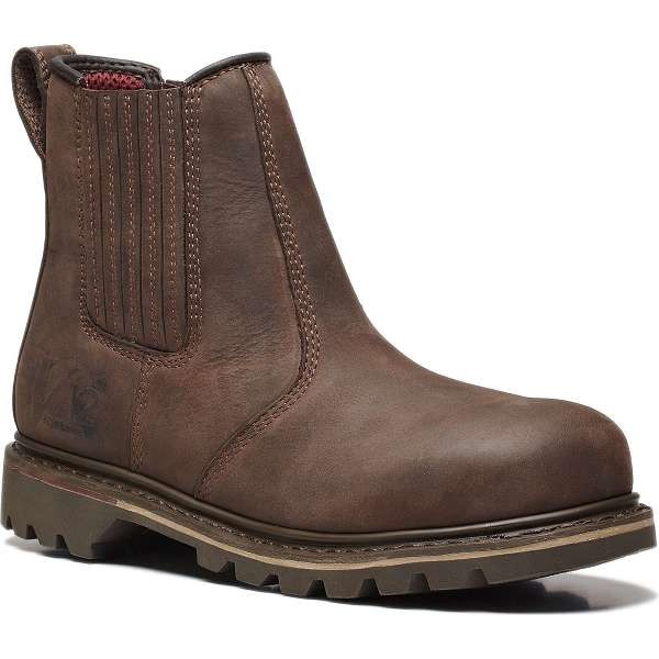 V12 Rawhide Brown Safety Dealer Boots