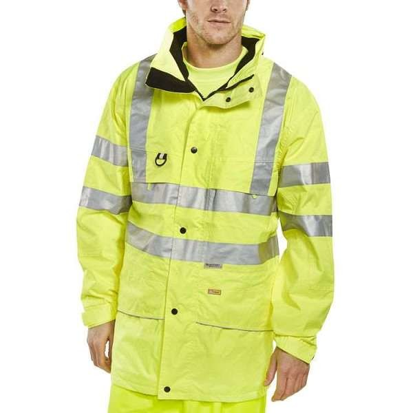 Carnoustie Hi Vis Yellow Waterproof Jacket