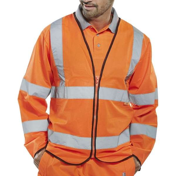 Fire Retardant Zipped Orange Jerkin