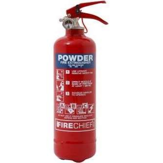 Firechief 1kg ABC Powder Fire Extinguisher c/w Wire Bracket (FMP1)