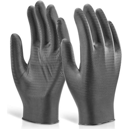 Glovezilla Nitrile Disposable Powder Free Gripper Gloves