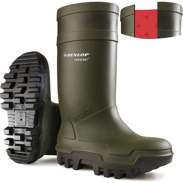 Dunlop Purofort Thermo+ Full Safety S5 Green Welly