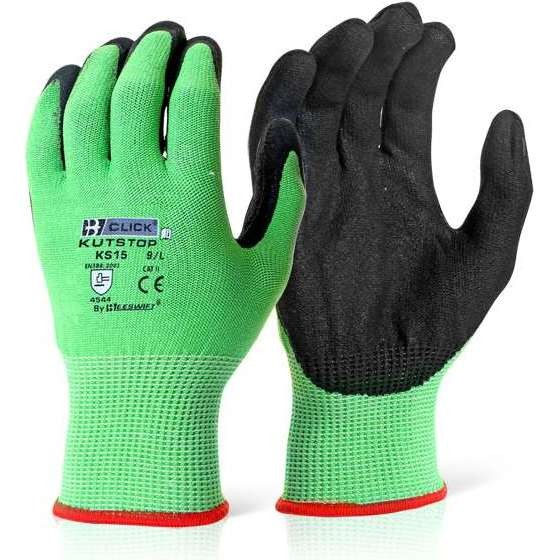 Kutstop Micro Foam Nitrile Green Cut 5 Gloves