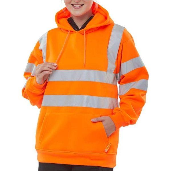 Hi Vis Rail Spec Hooded Sweatshirt (Beeswift)