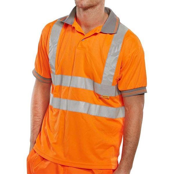 Hi Vis Rail Spec Short Sleeve Polo (bseen)