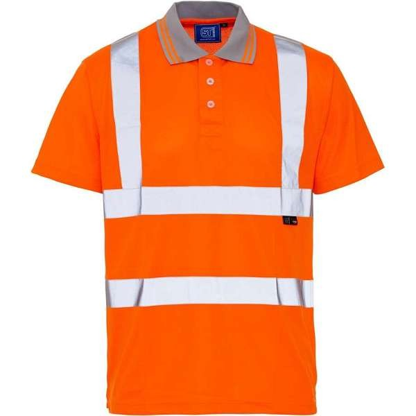 Hi Vis Rail Spec Short Sleeved Birds Eye Polo Shirt