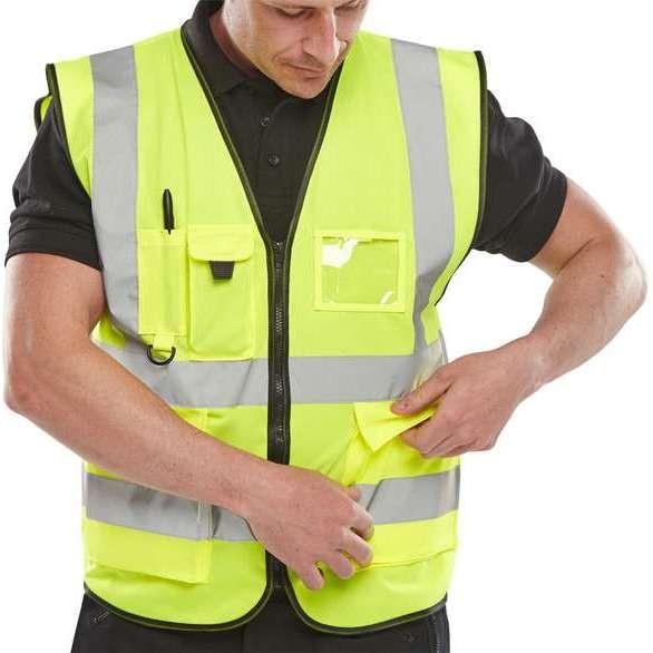 Hi Vis Yellow Executive Waistcoat