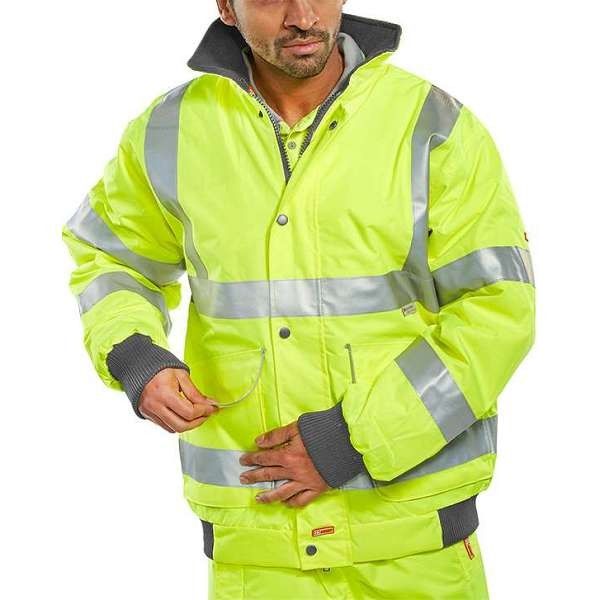 Hi Vis Yellow Super Bomber Jacket