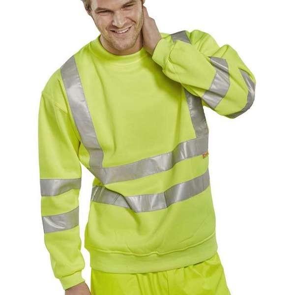 Hi Vis Yellow Sweatshirt (Beeswift)
