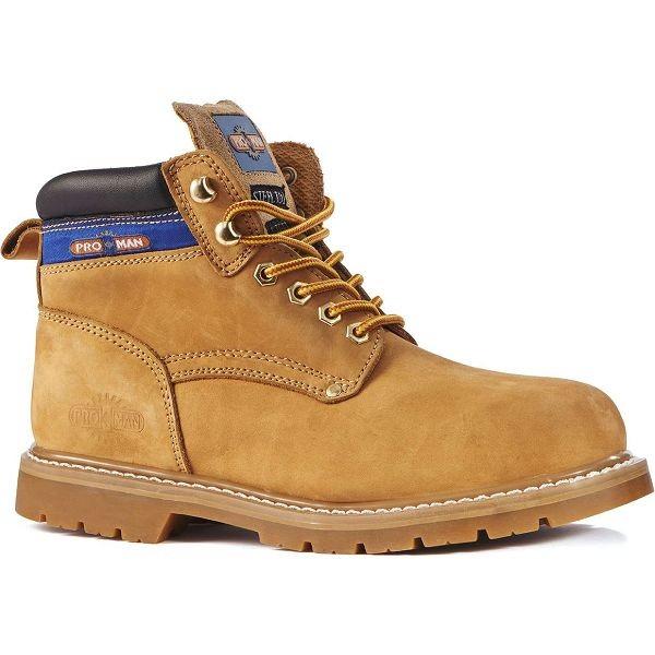 Pro Man Springfield Honey Nubuck Safety Boots (PM9401C)
