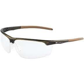 JSP Leone Spectacle Light Brown Frame, Clear Lens AS/AF coating KN