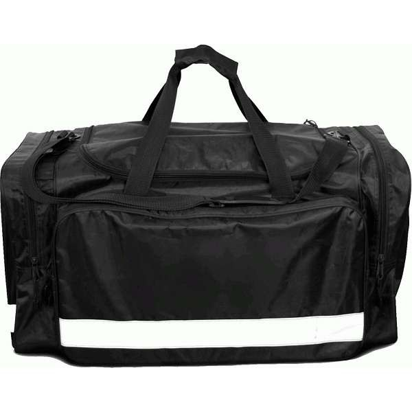 Large Black Holdall With Reflective Tape