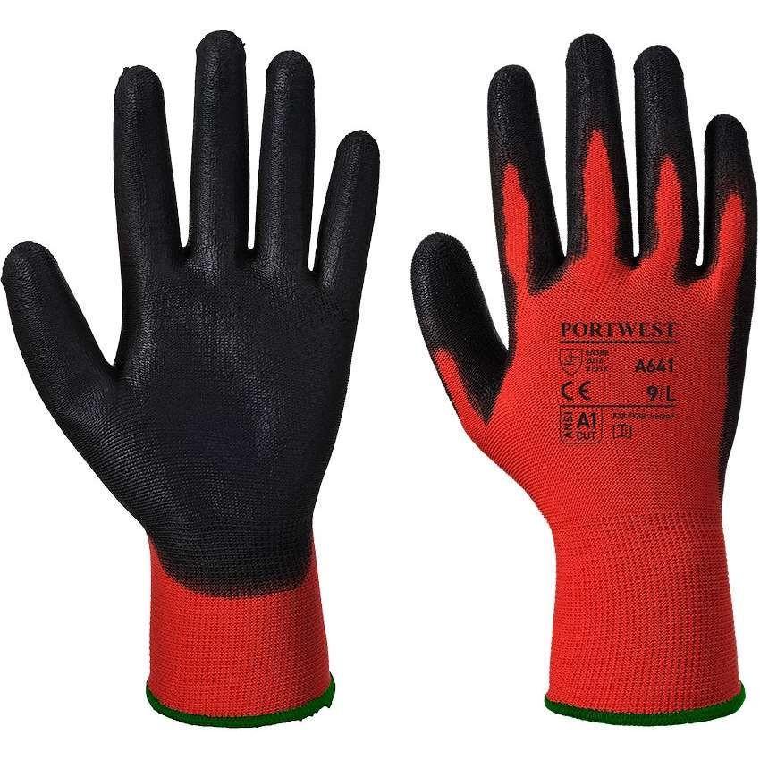 A641 Red/Black PU Coated Glove (Pack 12)