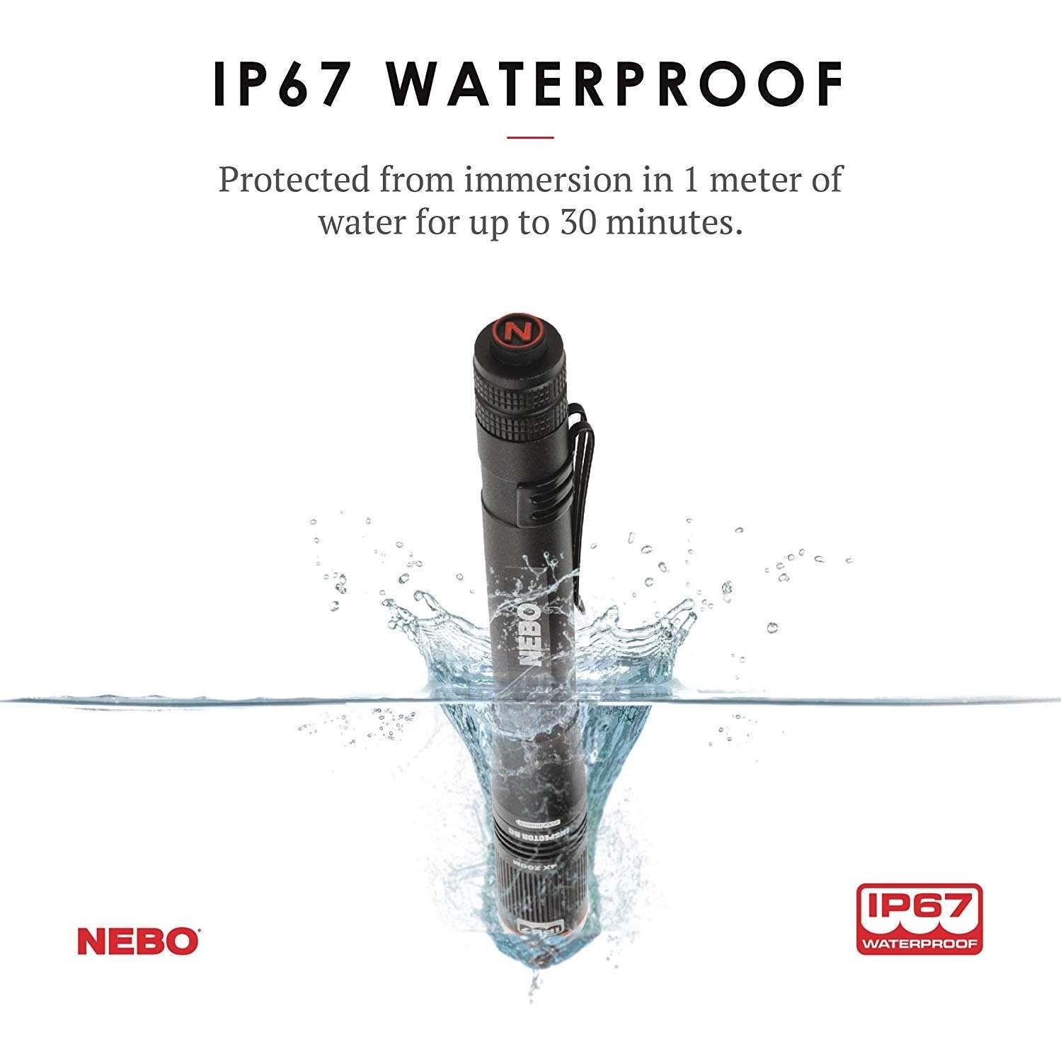 NEBO INSPECTOR 180 Lumens Zoom USB Rechargeable Pocket Pen Light