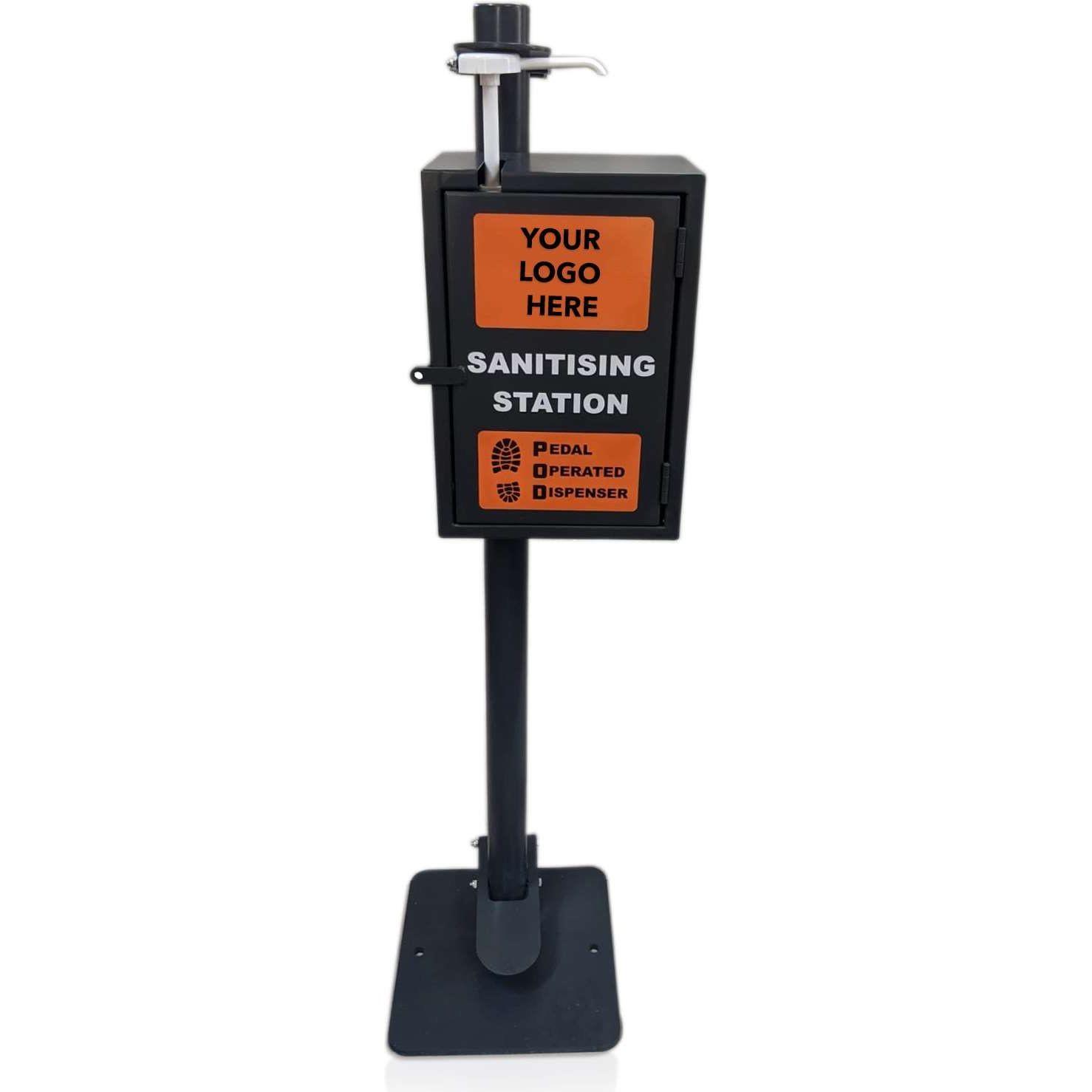 New P.O.D Plus™ (Pedal Operated Dispenser) w Lockbox (5ltr Sanitiser Included)