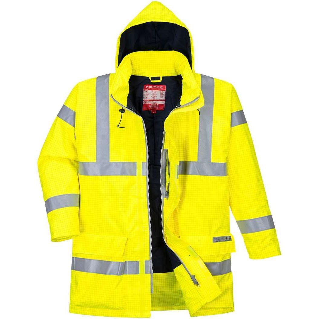 Portwest Bizflame Rain Hi Vis Antistatic Flame Retardant Jacket S778