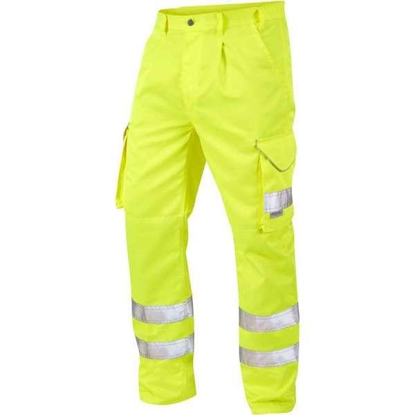 LEO Bideford ISO 20471 Class 1 Cargo Trouser Yellow