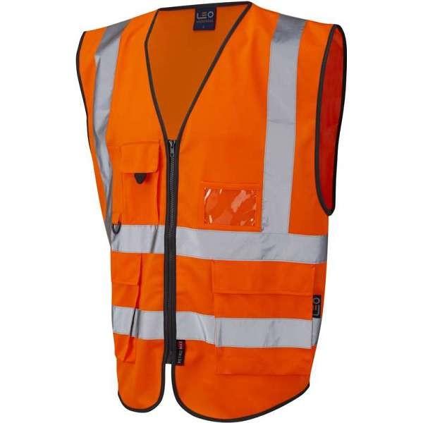 LEO Lynton ISO 20471 Class 2* Superior Waistcoat Orange