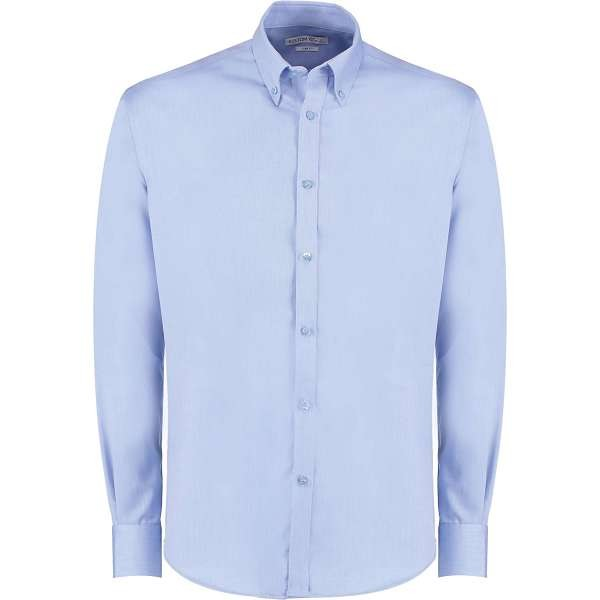 Kustom Kit Slim Fit Oxford Twill Shirt Long Sleeve (KK139)