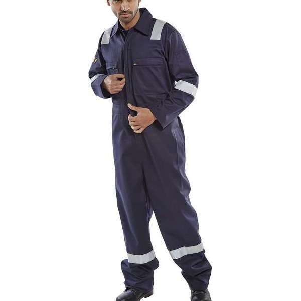 Burgan Fr Anti-Static Navy Coverall