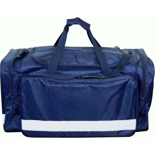 Large Navy Holdall With Reflective Tape