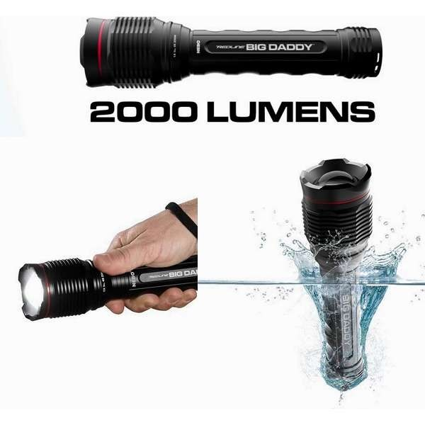 NEBO BIG DADDY 2000 Lumens HD Waterproof Zoom Flash Light