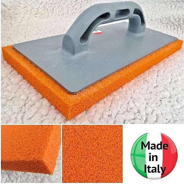 "Orange Plasterers Rendering FINE Rubber Sponge Float 11"" x 5"""