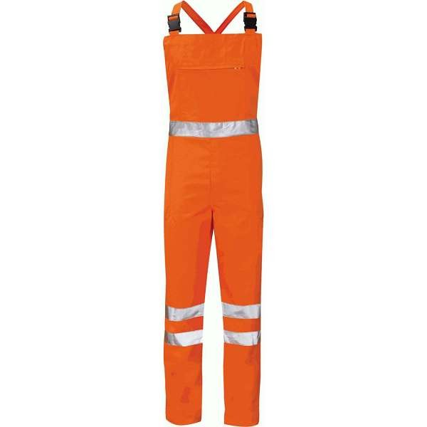 Hi Vis Alpha Orange Rail Spec Bib & Brace (Pro Rail Hercules)