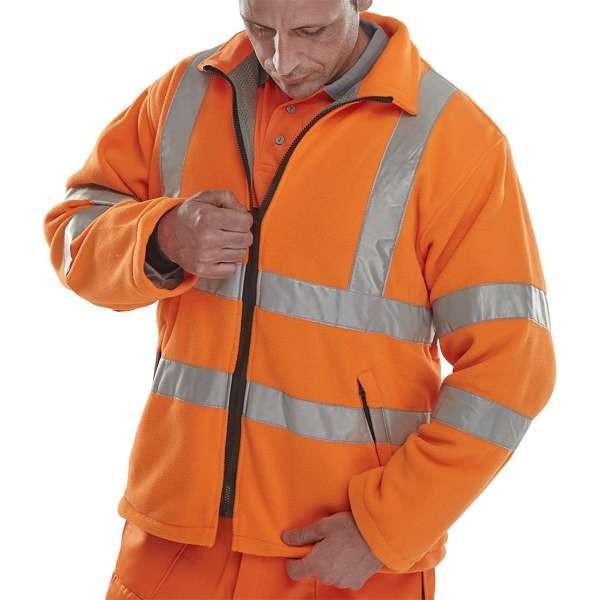 Hi Vis Carnoustie Rail Spec Orange Fleece Jacket
