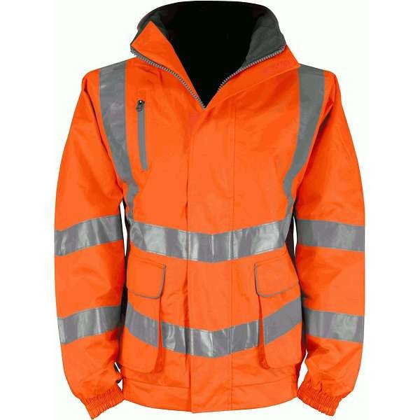 Hi Vis Cutlass 2 Orange Rail Spec Breathable Bomber Jacket (Pro Rail)