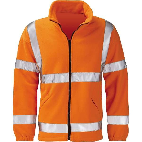 Hi Vis Gladiator Rail Spec Fleece Jacket Orange