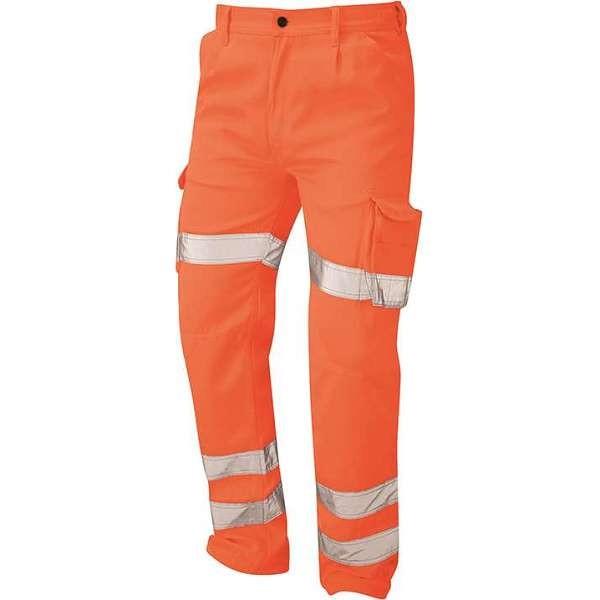 Hi Vis Orange Condor Deluxe Rail Spec Cargo Trousers