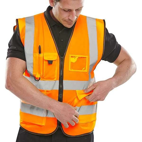 Hi Vis Orange Executive Waistcoat