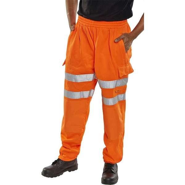 Hi Vis Orange Rail Spec Jogging Bottoms