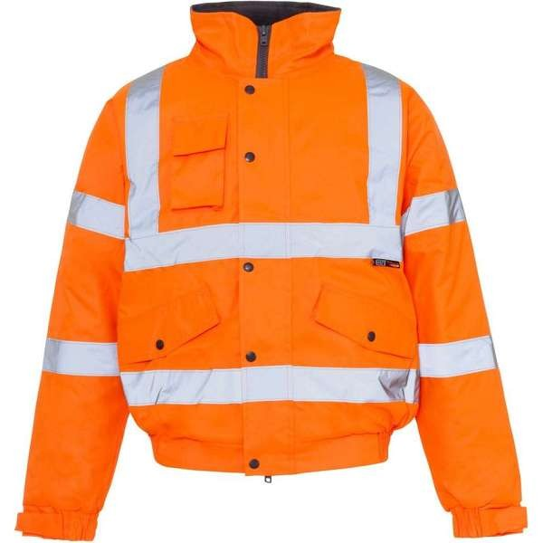 Hi Vis Rail Spec Bomber Jacket
