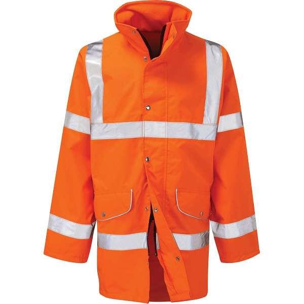 Hi Vis Rail Spec Breathable Jacket (Pro Rail Sabre 2)