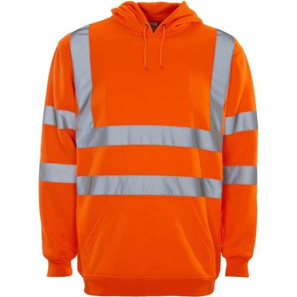 Hi Vis Rail Spec Hooded Sweatshirt (Supertouch)